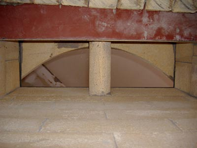 fireplace tile ideas photos. Large refractory tile is used